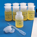 Lockable (Tamper Evident) Security Bottles, Wide Mouth LDPE, 1000mL, pack/5