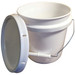 Plastic Bucket, Pail with Snap-on Lid, 1 gallon, case/6