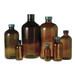 4oz Amber Glass Boston Round, 22-400 Phenolic Hole Cap & PTFE PTFE/Silicone Septa