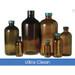 4oz Amber Glass Boston Round, 22-400 Phenolic Polyseal Cone Lined Cap, Ultra Clean, case/128