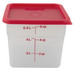 Graduated Square Containers with Lid, PP, 6 Qt, case/6