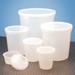 Disposable Specimen Containers with Lid, Transparent, 4oz, case/250