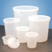 Disposable Specimen Containers with Lid, Transparent, 32oz, case/100