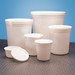 Disposable Specimen Containers with Lid, White 165oz, case/25
