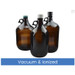 2.5L Amber Glass Jug, 38-430 Phenolic F217 & PTFE Lined Caps, Vacuum & Ionized, case/6