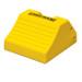 "Heavy Duty Lightweight Wheel Chock, 17.7"" x 15.2"" x 10"" Yellow, Single Unit"