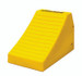 "Heavy Duty Lightweight Wheel Chock, 24.6"" x 14.5"" x 16"" Yellow, Single Unit"