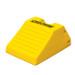 "Heavy Duty Lightweight Wheel Chock, 21.9"" x 14.9"" x 10.6"" Yellow, Single Unit"
