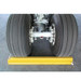 """Commercial Wheel Chock, Rubber, Black, 18"""" x 5"""" with 24"""" Nylon Rope, Single Unit"""