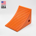 "Pickup Truck Wheel Chock, Urethane, 3.5 Lb, 11.25"" x 8"" x 8.25"" Orange, Single Unit"
