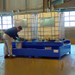 2-Tote IBC Painted Steel Spill Containment Sump