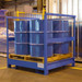 4-Drum Painted Steel Stackable Transport Pallet w/Side Rails, Painted Steel