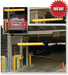 """Eagle® 5"""" Hanging Clearance Bar for Auto Garage or Drive Through, Yellow"""