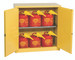 Eagle® Safety Cabinet and 6 Safety Cans with Funnels, 30 gallon