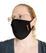Bulk Custom Logo Face Masks, 2-Ply, 100% Cotton, Black, MOQ 500
