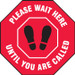 """Covid-19 Floor Stickers / Footprint Markers, 12"""" Stop Sign, Please Wait Here"""