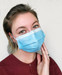 Disposable Civilian Face Mask with Ear Loop, 3-Ply Blue, box/50