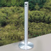 "Deluxe Cigarette Smokers Post, 3.5"" x 42"" Floor Standing, Satin Aluminum"