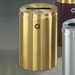 Recycling Bin, RecyclePro Waste Receptacle for Paper, 33 gal, Satin Brass