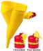 Justrite Funnel for Steel Type I Safety Cans (1 gallon+) Poly, Yellow