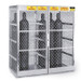 Vertical Gas Cylinder Storage Locker, Aluminum, Double 10-20 Cylinders