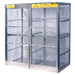 Vertical Gas Cylinder Storage Locker, Aluminum (CSA) 16 Cylinder