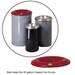 Justrite® Medium Red Steel Cease-Fire Drum Head for 30 gal drum bodies