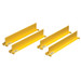"Shelf Dividers Fit Shelf Depth Of 14"", Set Of 4, Yellow"