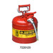 "Justrite® Type II Steel Safety Can, AccuFlow, 2 gallon, 5/8"" Spout, Red"