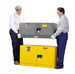 Justrite® Flammable Piggyback Cabinet, 12 gal Gray self-closing