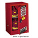 Justrite® Flammable Compac Cabinet, 15 gallon Red manual