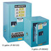 Justrite® Acid Safety Cabinet, Compact Style, 15 gallon Blue manual