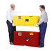 Justrite® Flammable Piggyback Cabinet, 17 gal Red self-closing
