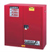 Justrite® Flammable Safety Cabinet, 30 gallon Red manual