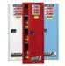 Justrite® Flammable Cabinet, 54 gallon Deep Slimline Blue, manual
