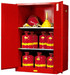 Justrite® Flammable Safety Cabinet, 90 gallon Red, Self-Closing