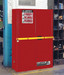 Justrite® High Security Safety Cabinet, 45 gal for Flammables Red self-closing