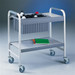 "Lab Cart, Utility Cart, Flexi-Bin Epoxy-coated Steel, 10"" bin"