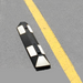 "Park-It Garage Parking Stop, 22"" Rubber with Stripe"