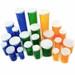 Blue Pharmacy Vials, Easy Snap-Caps, Blue, 30 dram (111mL), case/280