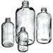 Boston Round Bottles, 8 oz, Clear Glass, 24-400 neck finish, No Caps, case/24