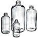 Boston Round Bottles, 16 oz, Clear Glass, 28-400 neck finish, No Caps, case/12