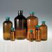 Amber Boston Round Bottles, 8 oz, 24-400 Black Phenolic Pulp/Vinyl Lined Cap, case/24