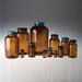 50mL Amber Wide Mouth Packer Bottles, Black Vinyl Lined Caps, case/24