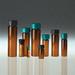 Amber Glass Vials, 40mL, Black Cap, PTFE Disc, case/144