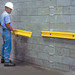"Wall Protector, 48"" Yellow Polyethylene Bumper Guard"