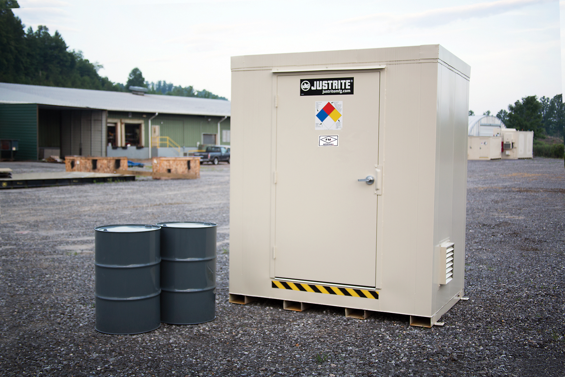 Fire Rated Prefeb Drum Storage Buildings
