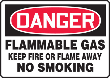 Dura-Plastic MCHL046XT AccuformDanger Poisonous Gas Hydrogen Sulfide Safety Sign 10 x 14 Inches
