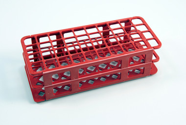 Dynalon 225665 0001 40 Place Test Tube Rack Red 20mm Case 5