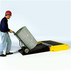 5 Year Warranty 4500 lbs Capacity Yellow UltraTech 9611 Premier Polyethylene Ultra-Spill Pallet P2 Plus with Drain